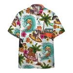Enjoy Surfing With Dachshund Dog Hawaiian Shirt   For Men & Women   Adult   HW6438