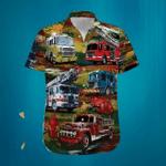 Fire Truck Firefighter Hawaiian Shirt | For Men & Women | Adult | HW7106