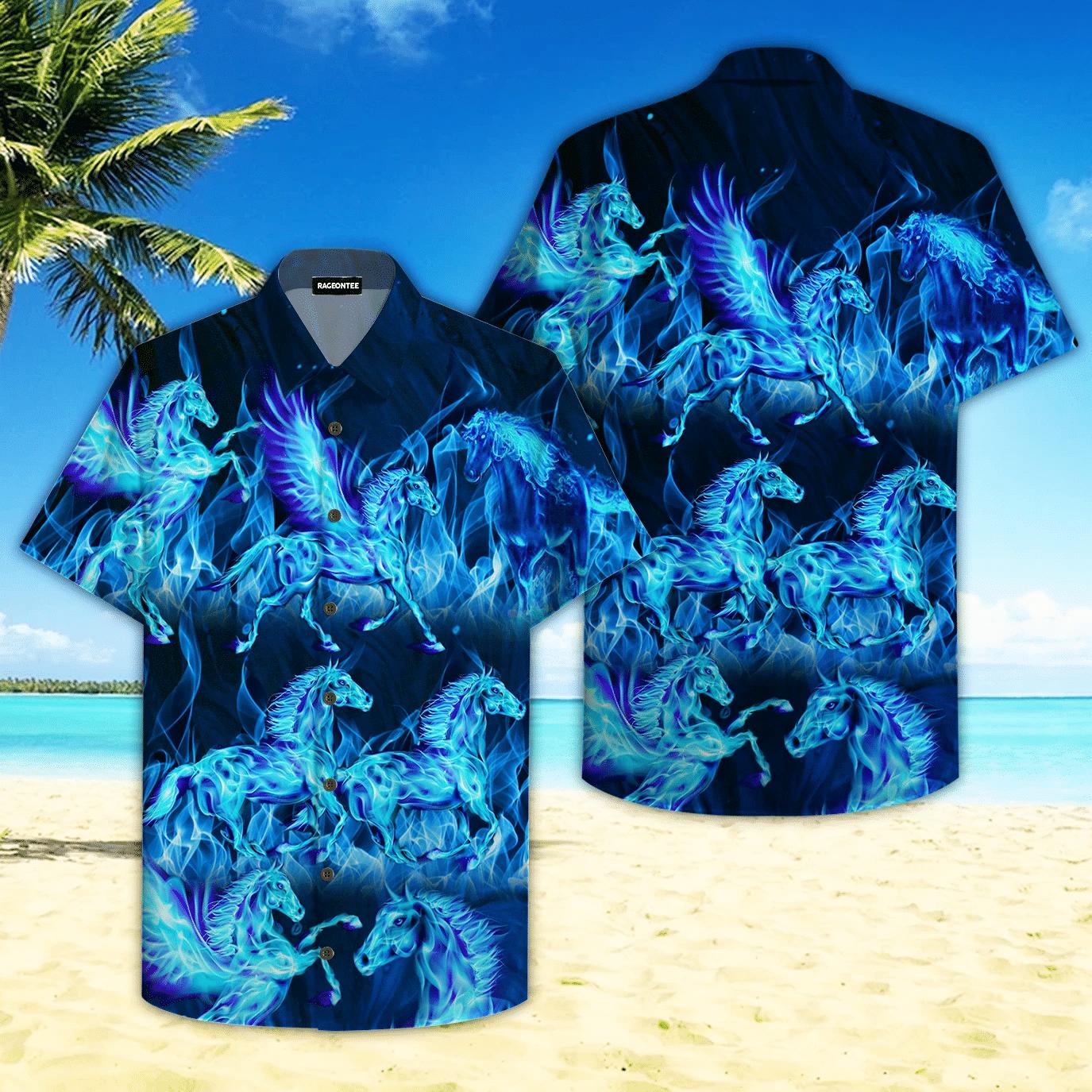 Thunder Water Horse Hawaiian Shirt   For Men & Women   Adult   HW4699