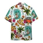 Enjoy Surfing With Pug Dog Hawaiian Shirt   For Men & Women   Adult   HW6437