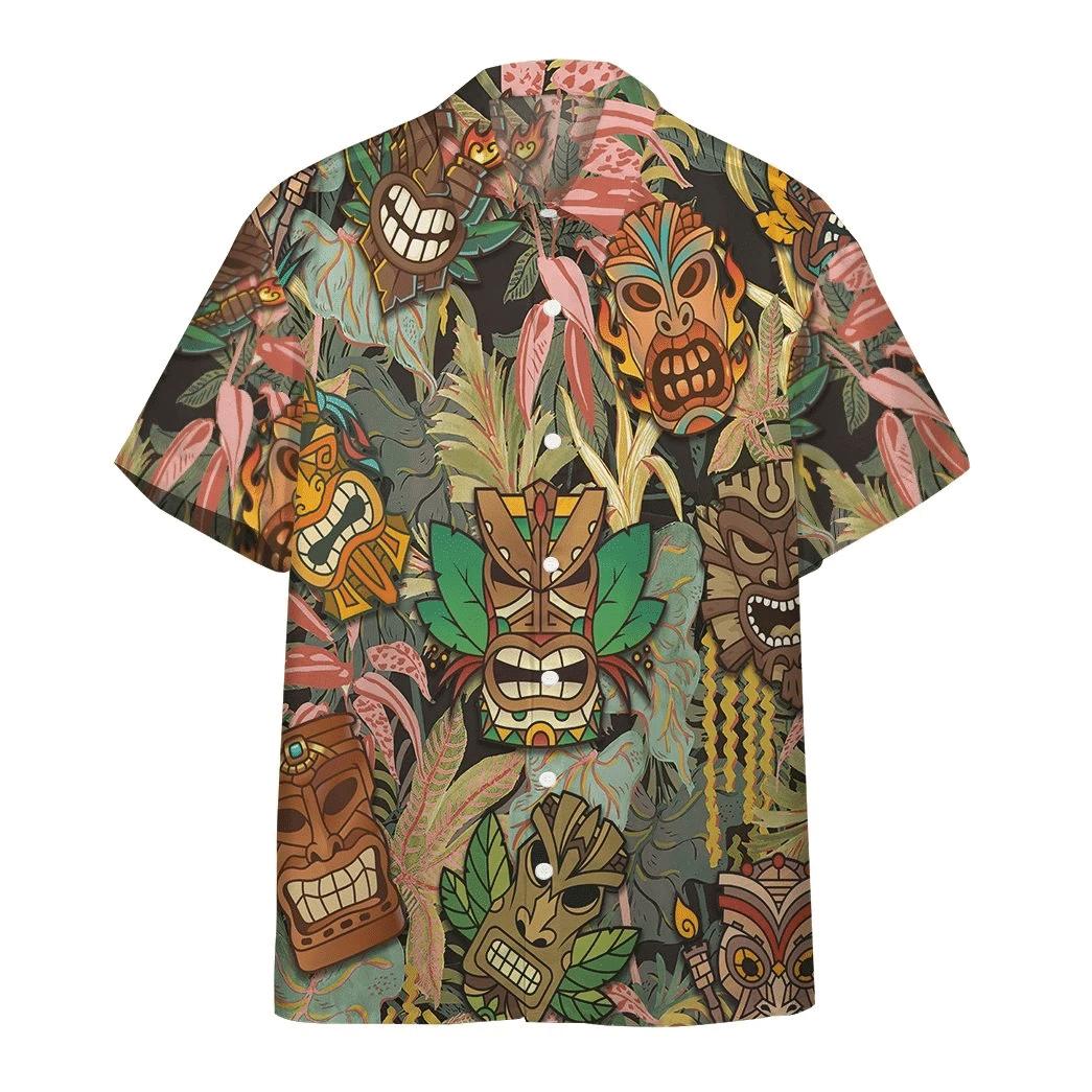 Tiki Head Hawaiian Shirt   For Men & Women   Adult   HW6474