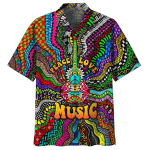 Hippie Peace Love Music Hawaiian Shirt | For Men & Women | Adult | HW7661