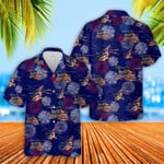 Fireworks Of 4th July American Flag Sikorsky MH-53 Hawaiian Shirt | For Men & Women | Adult | HW7340