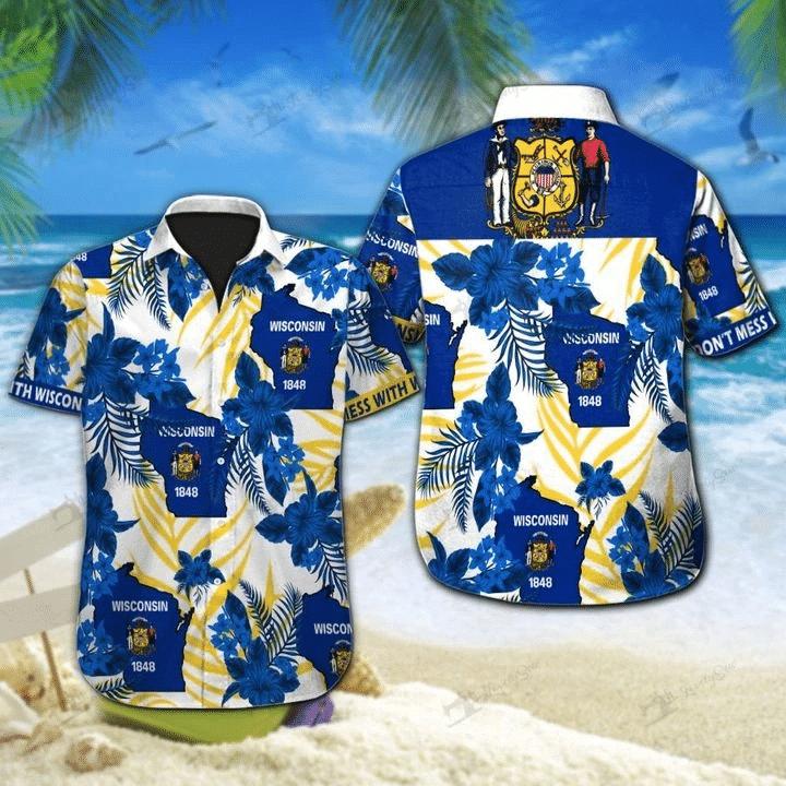 Wisconsin Hawaiian Shirt | For Men & Women | Adult | HW7467