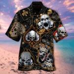 Dangerous Skull Poker Hawaiian Shirt | For Men & Women | Adult | HW6189
