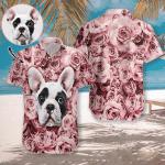 Dog In The Rose Hawaiian Shirt   For Men & Women   Adult   HW7449