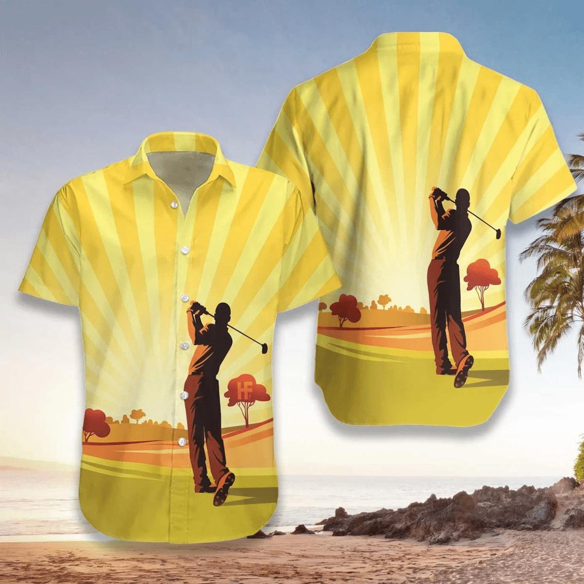 Playing Golf Hawaiian Shirt | For Men & Women | Adult | HW6907