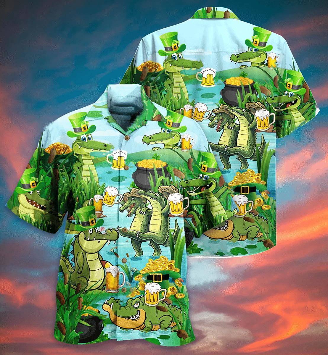 Crocodile Drink Beer Hawaiian Shirt | For Men & Women | Adult | HW7154