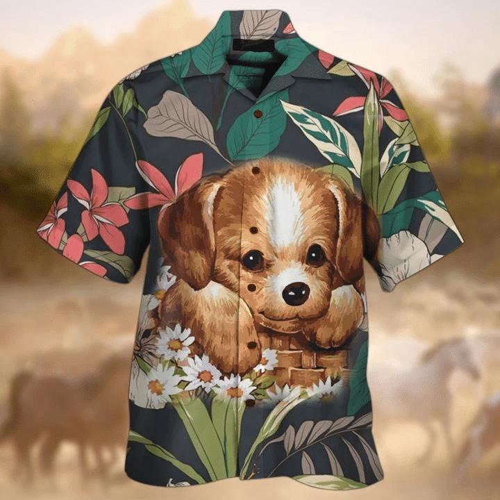 Golden Retriever Hawaiian Shirt   For Men & Women   Adult   HW7530
