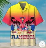 Summer Flamerica Hawaiian Shirt | For Men & Women | Adult | HW6937