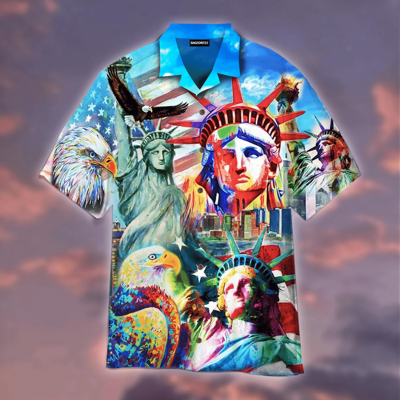 Amazing Colorful Statue Of Liberty Hawaiian Shirt | For Men & Women | Adult | HW4861