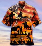 Cowboy American Flag Hawaiian Shirt | For Men & Women | Adult | HW7307