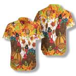 Colorful Festive Thanksgiving Hawaiian Shirt   For Men & Women   Adult   HW7258