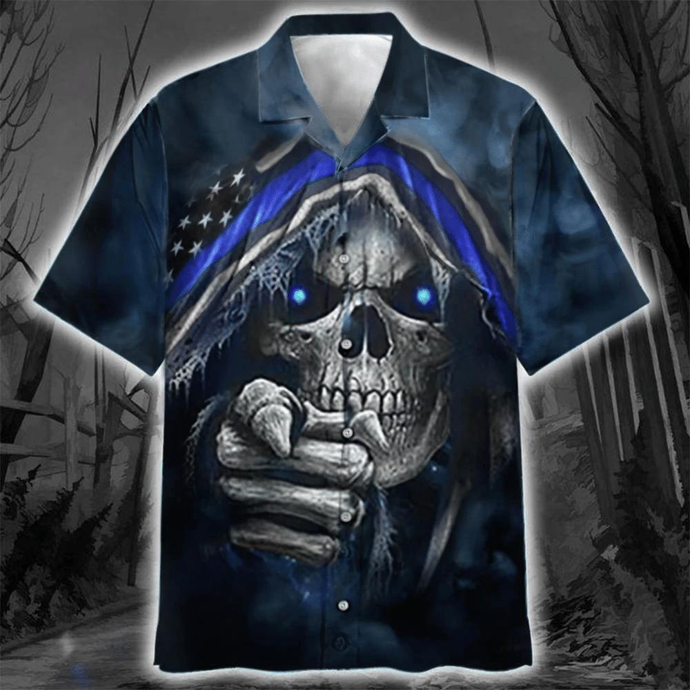 Skull Hawaiian Shirt | For Men & Women | Adult | HW6625