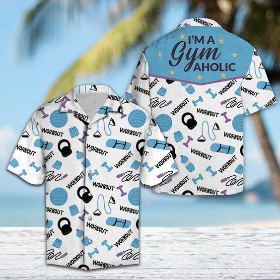 I'm A Gym Aholic Hawaiian Shirt | For Men & Women | Adult | HW6312