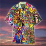 Hippie Music Colorful Hawaiian Shirt   For Men & Women   Adult   HW4733