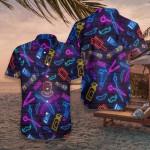 Barber Shop Neon Hawaiian Shirt | For Men & Women | Adult | HW7486