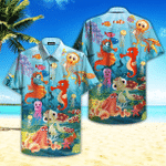Crazy Funny Under The Ocean Life Hawaiian Shirt   For Men & Women   Adult   HW4719