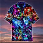 Powerful Galaxy Tiger Hawaiian Shirt | For Men & Women | Adult | HW4778
