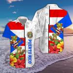 Hibiscus Puerto Rico Hawaiian Shirt   For Men & Women   Adult   HW6672