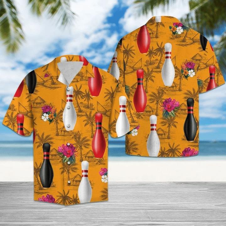 Bowling Tropical Flowers Hawaiian Shirt   For Men & Women   Adult   HW6560
