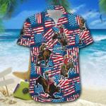 Bull Riding American Flag 4th Of July Hawaiian Shirt | For Men & Women | Adult | HW6209