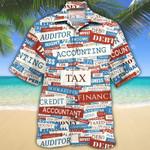 Accounting Text Gift Hawaiian Shirt   For Men & Women   Adult   HW7576
