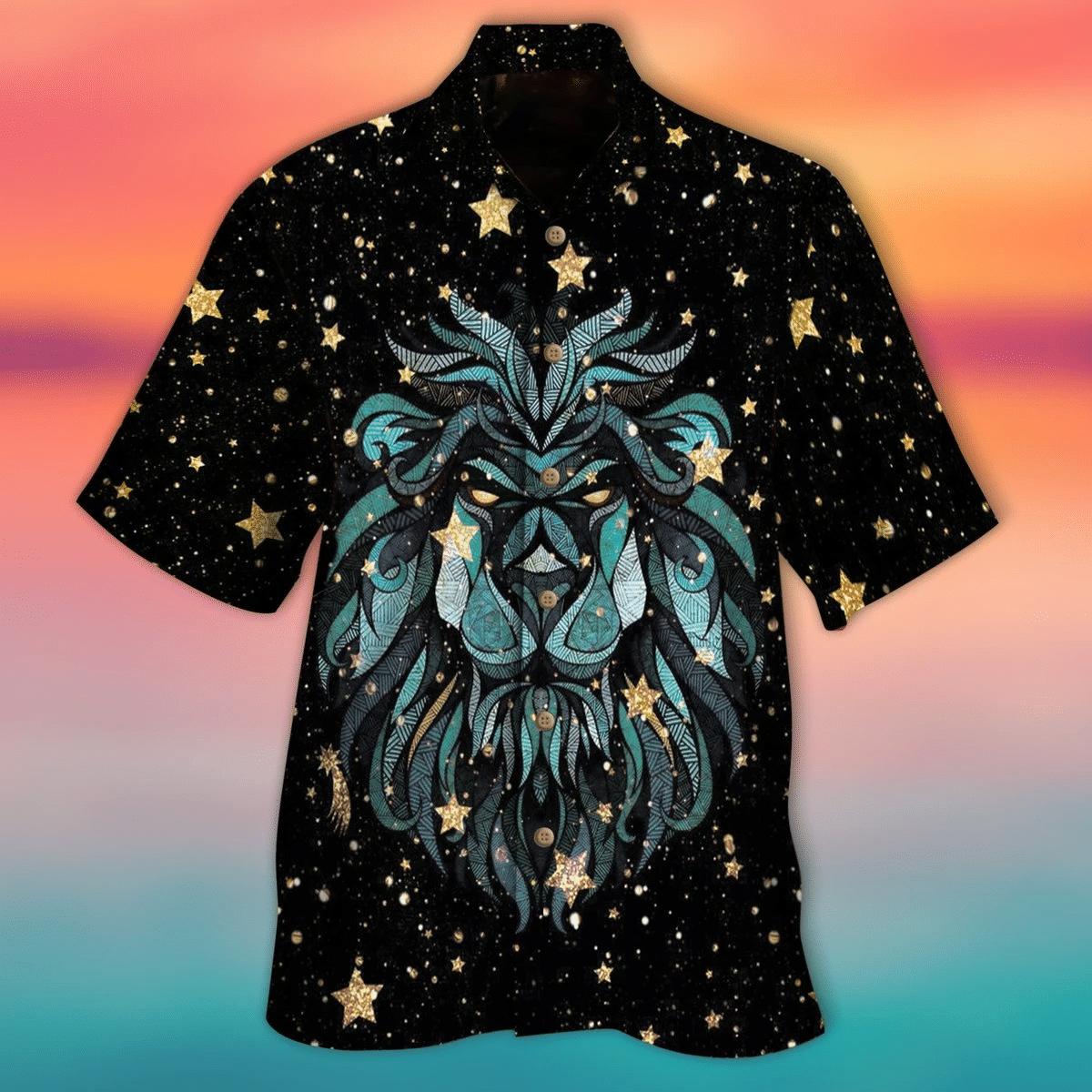 Lion Stars Hawaiian Shirt   For Men & Women   Adult   HW6593