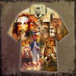 Jesus Faith Hope Love Lion Hawaiian Shirt | For Men & Women | Adult | HW4768
