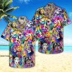 Colorful Hippie Lion Hawaiian Shirt | For Men & Women | Adult | HW4721