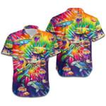 Sharks Rainbow Tie Dye Hawaiian Shirt | For Men & Women | Adult | HW7027