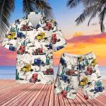 Trailer Truck Hawaiian Shirt Set   Unisex   HS1097