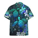 Sea Turtle Tropical Hibiscus Hawaiian Shirt   For Men & Women   Adult   HW6655