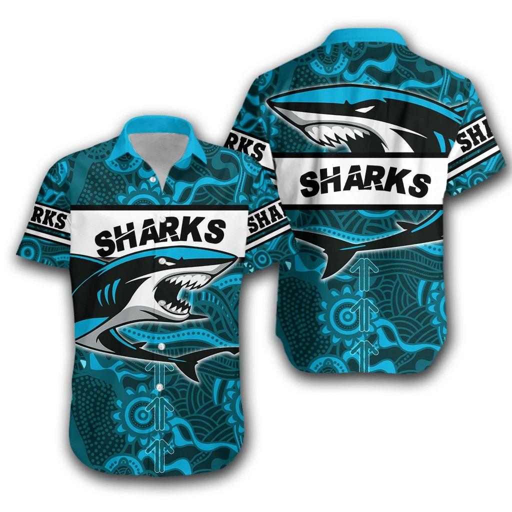 Sharks Hawaiian Shirt   For Men & Women   Adult   HW7034
