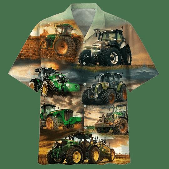 Tractor Hawaiian Shirt   For Men & Women   Adult   HW7196