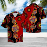 Koi Turquoise Circles Pattern Hawaiian Shirt   For Men & Women   Adult   HW6359