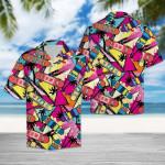 Awesome Skateboard Hawaiian Shirt   For Men & Women   Adult   HW6484