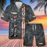 U.S Army Veteran Eagle Hawaiian Shirt Set   Unisex   HS1117