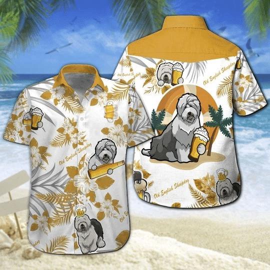 Old English Sheepdog Beer Hawaiian Shirt | For Men & Women | Adult | HW6483