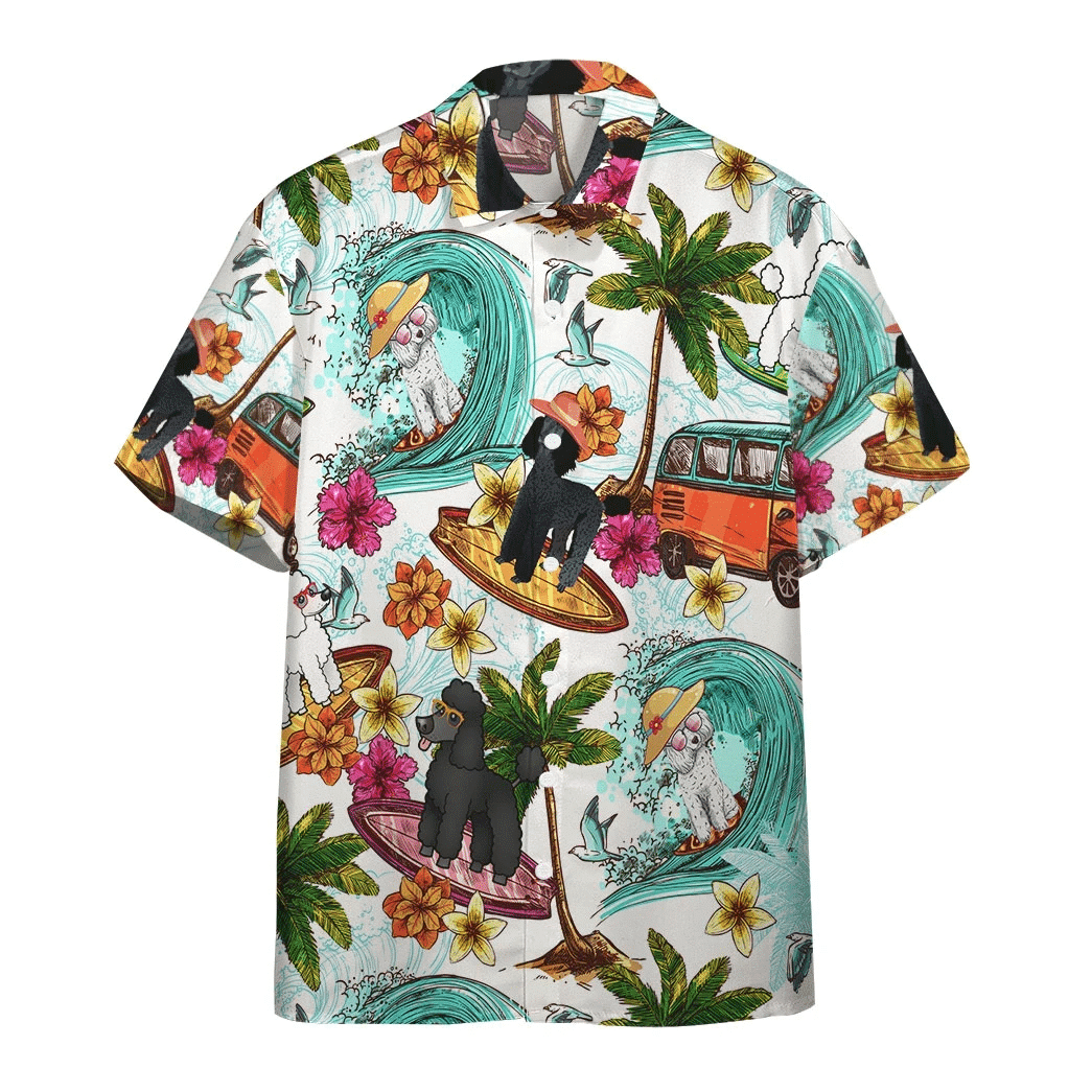 Enjoy Surfing With Poodle Hawaiian Shirt | For Men & Women | Adult | HW6436