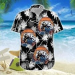 Bigfoot Surfing Black Hawaiian Shirt | For Men & Women | Adult | HW6213