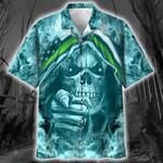 Skull Thin Green Line Hawaiian Shirt | For Men & Women | Adult | HW6504