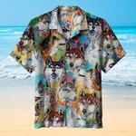 Husky Dogs Art Hawaiian Shirt | For Men & Women | Adult | HW7386