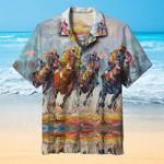 Equestrian Lovers Painting Art Hawaiian Shirt   For Men & Women   Adult   HW6663