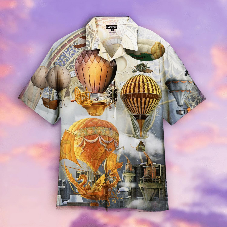 Fly High Fly Far With Air Balloon Steampunk Hawaiian Shirt   For Men & Women   Adult   HW4943