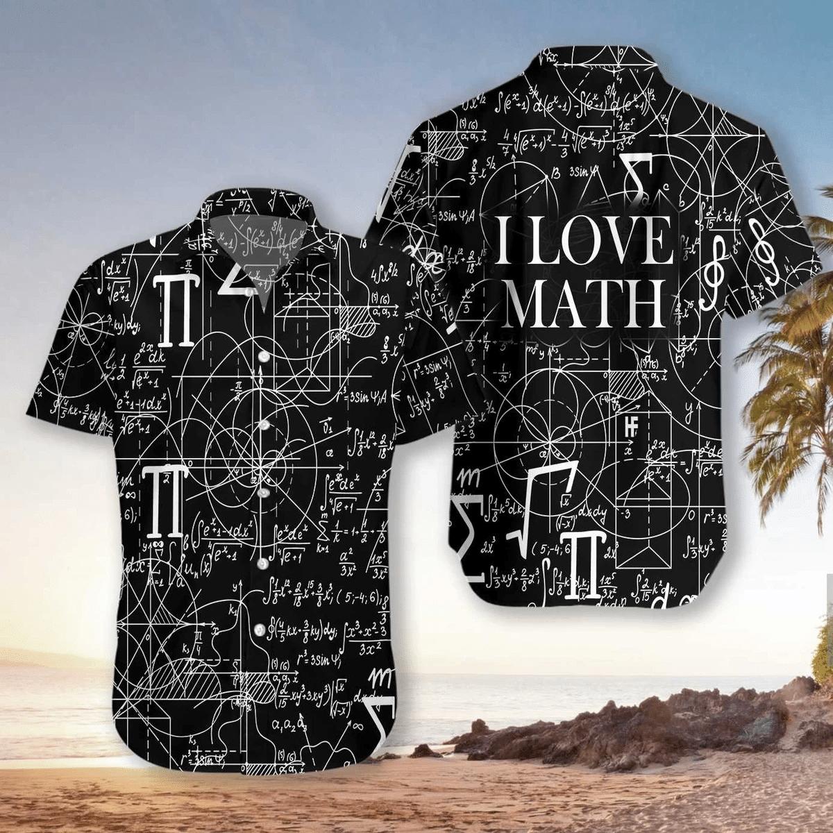 I Love Math Hawaiian Shirt | For Men & Women | Adult | HW6904