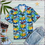 Dinosaur Blue Hawaiian Shirt | For Men & Women | Adult | HW6982