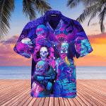 Psychic Skull Face Future Death Hawaiian Shirt | For Men & Women | Adult | WT1401