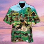 Dachshund Hawaiian Shirt   For Men & Women   Adult   HW7545
