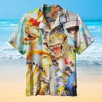 Dinosaur Smile Hawaiian Shirt   For Men & Women   Adult   HW6403